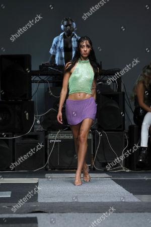 Stock Photo of Ashish Gupta. A model wears a creation by designer Ashish during his Spring/Summer 2019 runway show at London Fashion Week in London