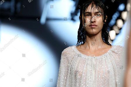 Ashish Gupta. A model wears a creation by designer Ashish during his Spring/Summer 2019 runway show at London Fashion Week in London