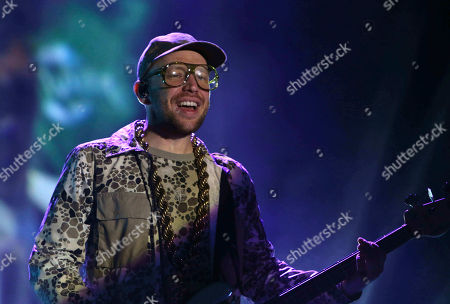 Ben McKee with Imagine Dragons performs during Music MidTown 2018 at Piedmont Park, in Atlanta