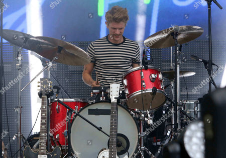 Mark Pontius with Foster The People performs during Music MidTown 2018 at Piedmont Park, in Atlanta