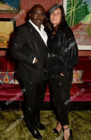 Edward Enninful and Emmanuelle Alt