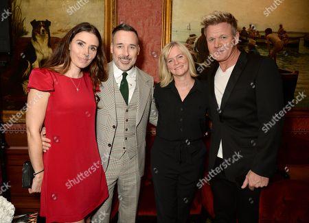 Tana Ramsay, David Furnish, Lady Ruth Kennedy and Gordon Ramsay