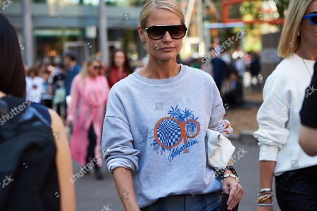 Editorial picture of Street Style, Spring Summer 2019, London Fashion Week, UK - 16 Sep 2018