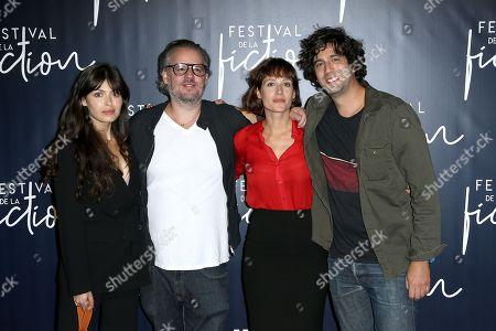 Leslie Medina, Frederic Hazan, Gwendolyn Gouvernec and Max Boublil