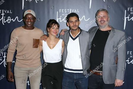 Ahmed Sylla, Julie Bargeton, Amir El Kacem and Olivier Charasson