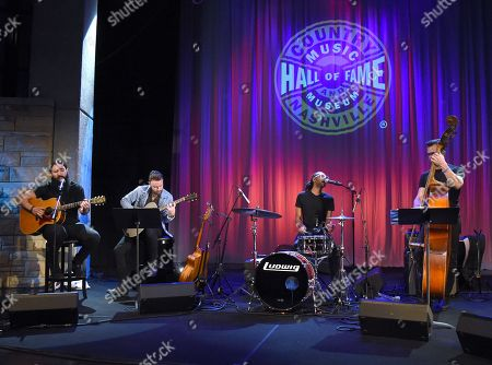 Stock Image of Singer Songwriter Ron Pope Joins Seth Flemmons (Guitar), Jerry Pentecost (Drums) and Jay Weaver (Bass)