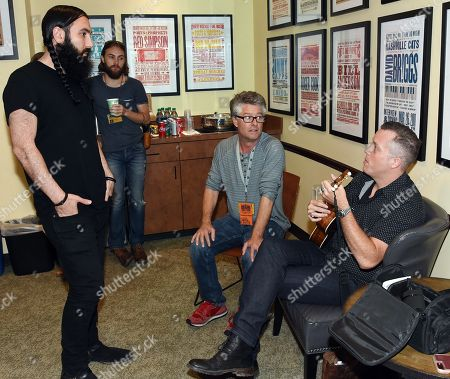 Stock Photo of Singer Songwriter Ron Pope, Executive Director Americana Jed Hilly and Singer Songwriter Jason Isbell