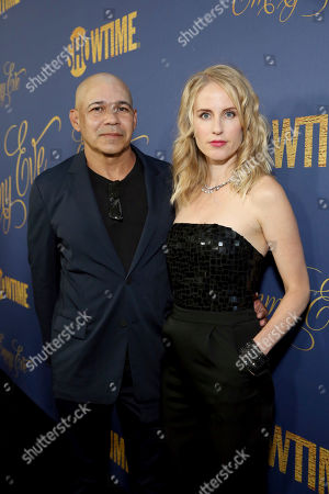 Stock Image of Eddie Perez, Kelley Flynn. Eddie Perez and Kelley Flynn pictured at Showtime's Emmy Eve Celebration at the Chateau Marmont in West Hollywood, CA on