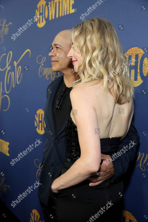 Stock Photo of Eddie Perez, Kelley Flynn. Eddie Perez and Kelley Flynn pictured at Showtime's Emmy Eve Celebration at the Chateau Marmont in West Hollywood, CA on