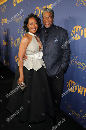 Tichina Arnold, Ali Leroi. Tichina Arnold and Ali Leroi pictured at Showtime's Emmy Eve Celebration at the Chateau Marmont in West Hollywood, CA on