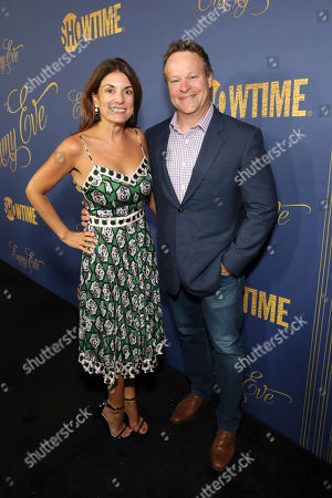 Guest, Chris Licht. Guest and Chris Licht pictured at Showtime's Emmy Eve Celebration at the Chateau Marmont in West Hollywood, CA on