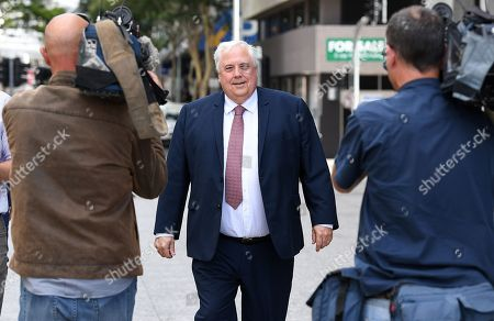 Australian businessman Clive Palmer arrives for a press conference outside the Supreme Court in Brisbane, Australia, 17 September 2018. Palmer has succeeded in his bid to have a Supreme Court Judge in Brisbane recused from an upcoming trial related to the 2016 collapse of Queensland Nickel.