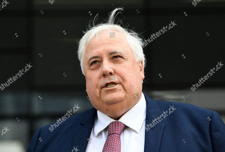 Australian businessman Clive Palmer speaks during a press conference outside the Supreme Court in Brisbane, Australia, 17 September 2018. Palmer has succeeded in his bid to have a Supreme Court Judge in Brisbane recused from an upcoming trial related to the 2016 collapse of Queensland Nickel.