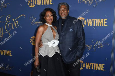 Tichina Arnold, Ali Leroi. Tichina Arnold, left, and Ali Leroi attend the Showtime Emmy Eve Party at Chateau Marmont, in Los Angeles