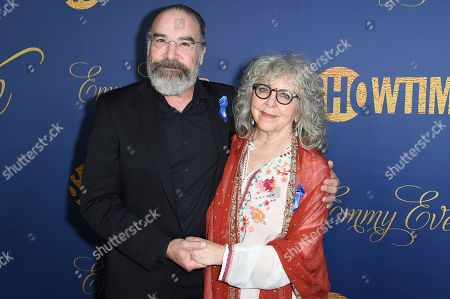Mandy Patinkin, Kathryn Grody. Mandy Patinkin, left, and Kathryn Grody attend the Showtime Emmy Eve Party at Chateau Marmont, in Los Angeles