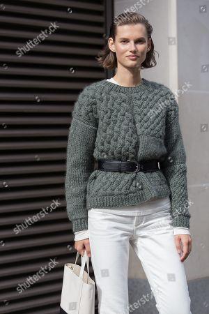 Model Giedre Dukauskaite after Victoria Beckham