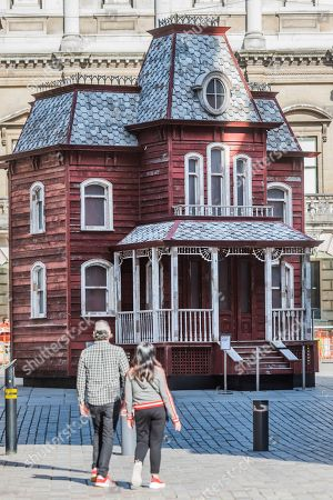 Editorial picture of Transitional Object (Psychobarn) by Cornelia Parker at Royal Academy of Arts, London, UK - 17 Sep 2018