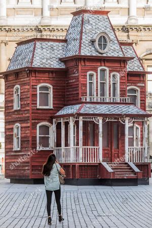 Cornelia Parker's Transitional Object (Psychobarn) at the Royal Academy of Arts.