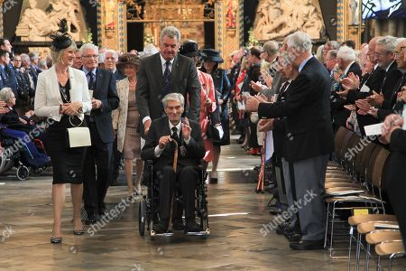 Stock Photo of A Service of Thanksgiving and Rededication on Battle of Britain Sunday was held at Westminster Abbey, London. The service was led by The Dean of Westminster The Very Reverend Dr John Hall.
