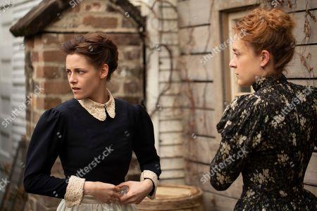 Kristen Stewart as Bridget Sullivan, Chloe Sevigny as Lizzie Borden
