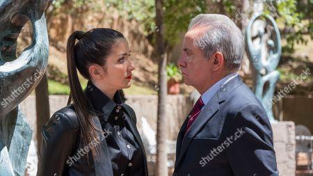 Stock Photo of Erendira Ibarra as Ana Vargas-West, Alvaro Guerrero as Jose Barquet