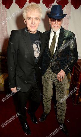 Nick Rhodes and Antony Price