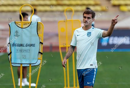 Atletico Madrid training and press conference, Monaco