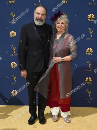 Mandy Patinkin, Kathryn Grody. Mandy Patinkin, left, and Kathryn Grody arrive at the 70th Primetime Emmy Awards, at the Microsoft Theater in Los Angeles
