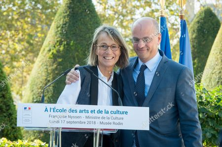 Francoise Nyssen, Minister of Culture and Jean-Michel Blanquer, Minister of Education