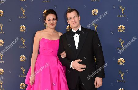 Lisa Joy, Jonathan Nolan. Lisa Joy, left, and Jonathan Nolan arrive at the 70th Primetime Emmy Awards, at the Microsoft Theater in Los Angeles