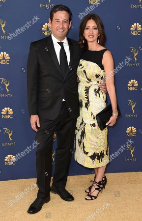 Rob Sharenow, Stacey Creem. Rob Sharenow, left, and Stacey Creem arrive at the 70th Primetime Emmy Awards, at the Microsoft Theater in Los Angeles