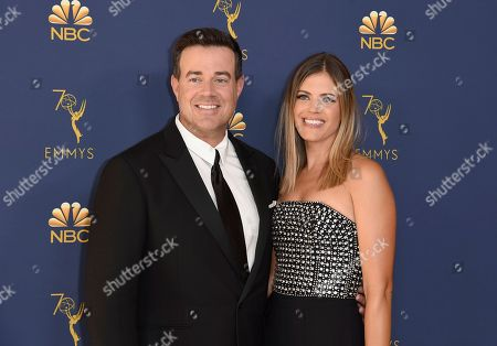 Carson Daly, Siri Pinter. Carson Daly, left, and Siri Pinter arrive at the 70th Primetime Emmy Awards, at the Microsoft Theater in Los Angeles