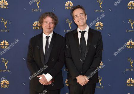David Leveaux, Alex Rudzinski. David Leveaux, left, and Alex Rudzinski arrive at the 70th Primetime Emmy Awards, at the Microsoft Theater in Los Angeles