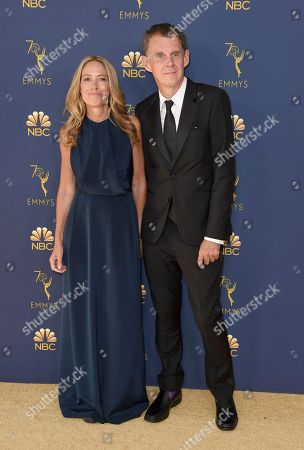 Stock Image of Rachael Horovitz, Michael Jackson. Rachael Horovitz, left, and Michael Jackson arrive at the 70th Primetime Emmy Awards, at the Microsoft Theater in Los Angeles