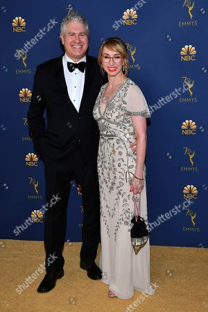 Eric Tuchman, Kira Snyder. Eric Tuchman and Kira Snyder arrive at the 70th Primetime Emmy Awards, at the Microsoft Theater in Los Angeles