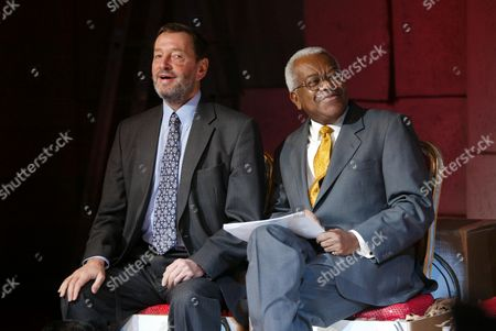 The Philip Lawrence Awards 2003.frances Lawrence The Widow Of Murdered Head Teacher Philip Lawrence Is Joined By Labour Party Home Sec David Blunkett And News Reader Trevor Mcdonald (both Pictured) At The Awards Ceremony Today.the London School Of Fashion.london.