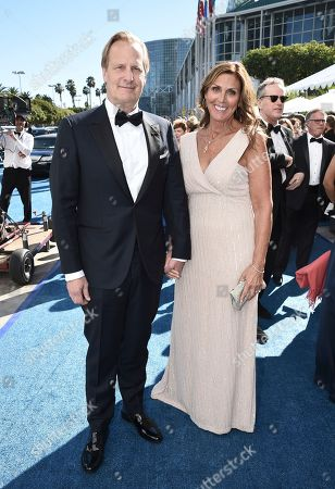 Jeff Daniels, Kathleen Rosemary Treado. Jeff Daniels, left, and Kathleen Rosemary Treado arrive at the 70th Primetime Emmy Awards, at the Microsoft Theater in Los Angeles