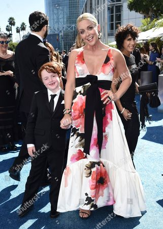Stock Photo of Bennett Robert Godley, Jane Krakowski. Bennett Robert Godley, left, and Jane Krakowski arrive at the 70th Primetime Emmy Awards, at the Microsoft Theater in Los Angeles