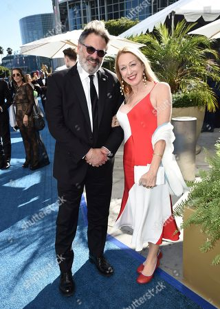 Stock Photo of Ken Olin, Patricia Wettig. Ken Olin, left, and Patricia Wettig arrive at the 70th Primetime Emmy Awards, at the Microsoft Theater in Los Angeles
