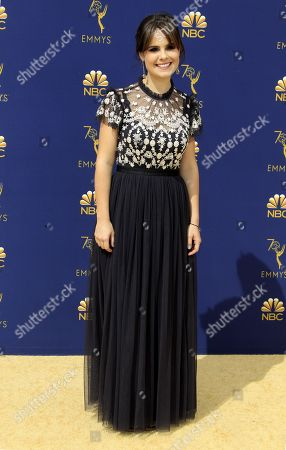 Amy Hoggart arrives for the 70th annual Primetime Emmy Awards ceremony held at the Microsoft Theater in Los Angeles, California, USA, 17 September 2018. The Primetime Emmys celebrate excellence in national prime-time television programming.