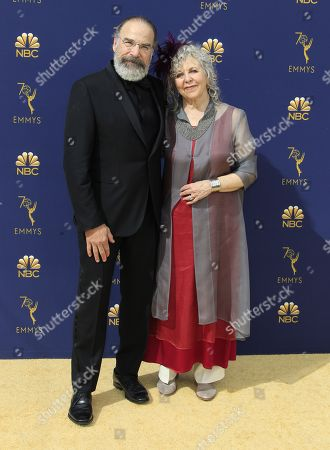 Stock Picture of Mandy Patinkin (L) and Kathryn Grody (R) arrive for the 70th annual Primetime Emmy Awards ceremony held at the Microsoft Theater in Los Angeles, California, USA, 17 September 2018. The Primetime Emmys celebrate excellence in national prime-time television programming.