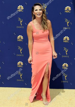 Lauren Zima arrives for the 70th annual Primetime Emmy Awards ceremony held at the Microsoft Theater in Los Angeles, California, USA, 17 September 2018. The Primetime Emmys celebrate excellence in national prime-time television programming.