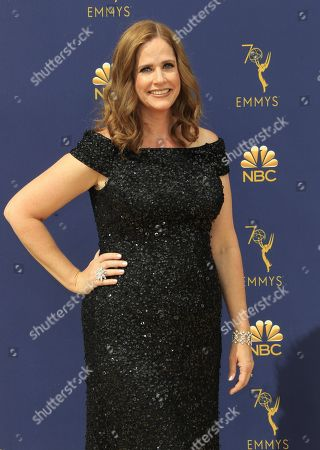 Alison Camillo arrives for the 70th annual Primetime Emmy Awards ceremony held at the Microsoft Theater in Los Angeles, California, USA, 17 September 2018. The Primetime Emmys celebrate excellence in national prime-time television programming.