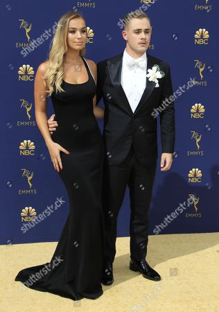 Liv Pollock (L) and Dacre Montgomery (R) arrive for the 70th annual Primetime Emmy Awards ceremony held at the Microsoft Theater in Los Angeles, California, USA, 17 September 2018. The Primetime Emmys celebrate excellence in national prime-time television programming.