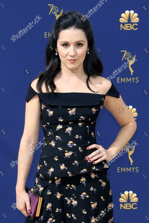 Stock Photo of Shannon Woodward arrives for the 70th annual Primetime Emmy Awards ceremony held at the Microsoft Theater in Los Angeles, California, USA, 17 September 2018. The Primetime Emmys celebrate excellence in national prime-time television programming.