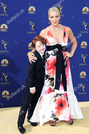 Stock Picture of Bennett Robert Godley (L) and Jane Krakowski arrive for the 70th annual Primetime Emmy Awards ceremony held at the Microsoft Theater in Los Angeles, California, USA, 17 September 2018. The Primetime Emmys celebrate excellence in national prime-time television programming.