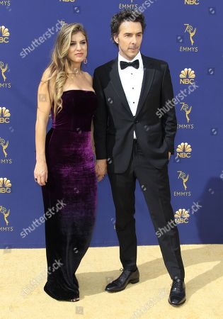 Serena Levy (L) and Shawn Levy (R) arrive for the 70th annual Primetime Emmy Awards ceremony held at the Microsoft Theater in Los Angeles, California, USA, 17 September 2018. The Primetime Emmys celebrate excellence in national prime-time television programming.