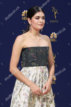 Samantha Colley arrives for the 70th annual Primetime Emmy Awards ceremony held at the Microsoft Theater in Los Angeles, California, USA, 17 September 2018. The Primetime Emmys celebrate excellence in national prime-time television programming.