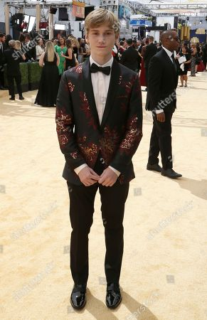 Matt Lintz arrives at the 70th Primetime Emmy Awards, at the Microsoft Theater in Los Angeles
