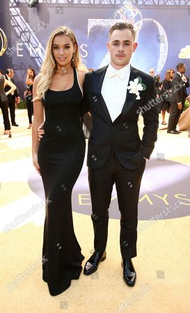 Liv Pollock, Dacre Montgomery. Liv Pollock, left, and Dacre Montgomery arrive at the 70th Primetime Emmy Awards, at the Microsoft Theater in Los Angeles